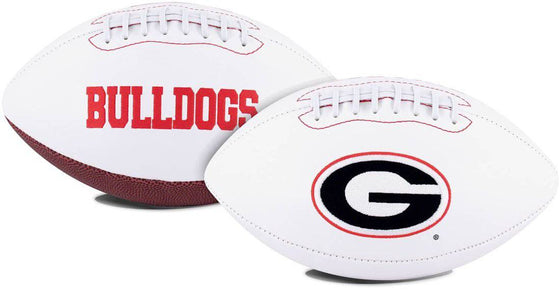 Georgia Bulldogs Football Full Size Embroidered Signature Series (CDG)