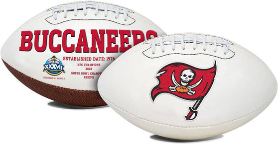 Tampa Bay Buccaneers Football Full Size Embroidered Signature Series (CDG)