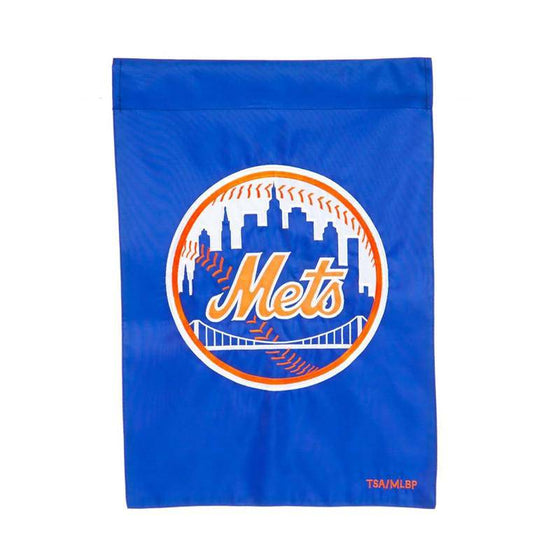 "New York Mets 12.5""x18"" 2 Sided Embroidered Applique Garden Flag (Waterproof) - 757 Sports Collectibles"