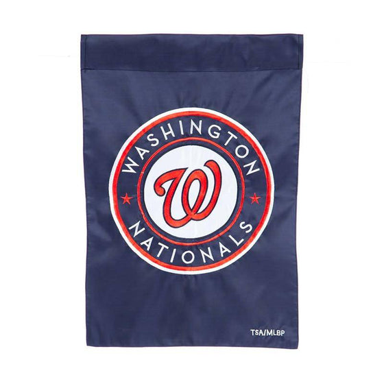 "Washington Nationals 12.5""x18"" 2 Sided Embroidered Applique Garden Flag (Waterproof) - 757 Sports Collectibles"