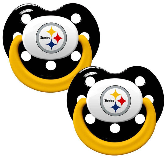 Pittsburgh Steelers Orthodontic 2 Pack Pacifier