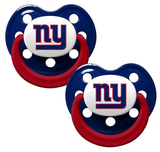 New York Giants Orthodontic 2 Pack Pacifier Set