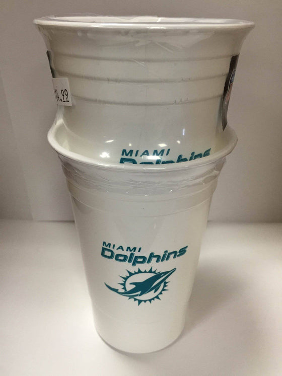 NFL Miami Dolphins 16 oz Reusable Solo Cup