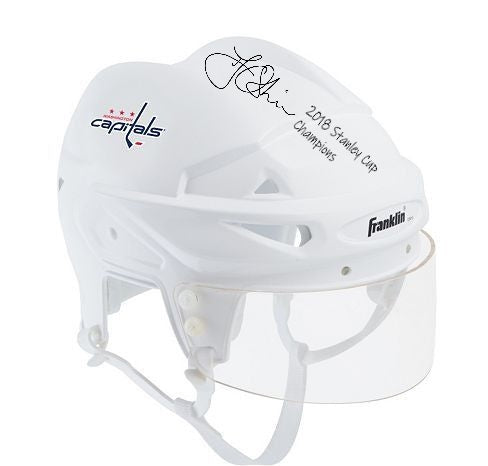 Presale - Washington Capitals TJ Oshie Autograph Signed Mini Helmet Inscribed 2018 Stanley Cup Champs - Signing 8.17.2019