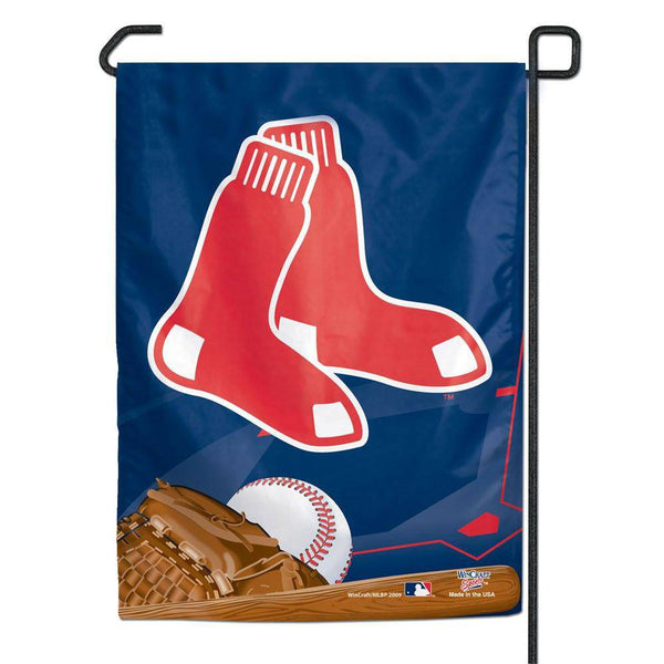 "Boston Red Sox Small Garden Flag 11""x15"" Socks"