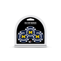 Michigan Wolverines 3 Pack Golf Chip Ball Markers