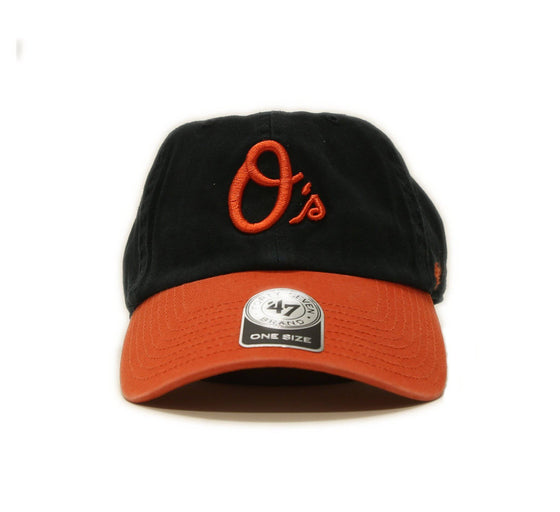 Baltimore Orioles 47 Brand Clean Up Adjustable On Field Cotton Orange Hat Cap MLB