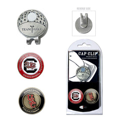 South Carolina Gamecocks Cap Clip With 2 Golf Ball Markers