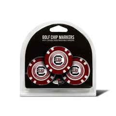 South Carolina Gamecocks 3 Pack Golf Chip Ball Markers