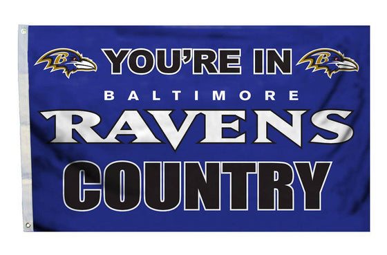 Baltimore Ravens Flag 3x5 Country (CDG)