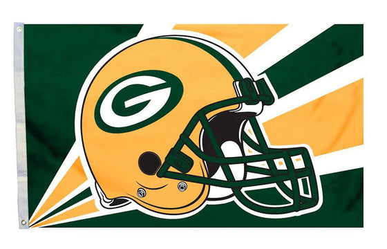 Green Bay Packers Flag 3x5 Helmet Design (CDG)