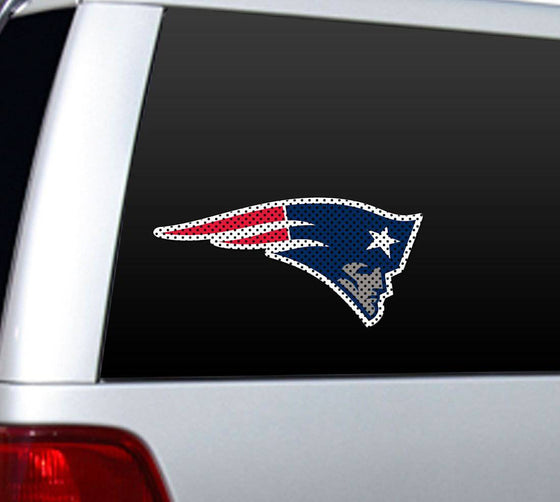 New England Patriots Large Die-Cut Window Film (CDG)