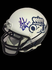 NCAA Shuler Bentley Old Dominion ODU Monarchs Signed Mini Helmet ( JSA PSA Pass) 757