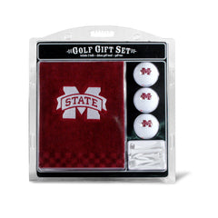 Mississippi State Bulldogs Embroidered Golf Towel, 3 Golf Ball, And Golf Tee Set
