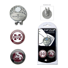 Mississippi State Bulldogs Cap Clip With 2 Golf Ball Markers