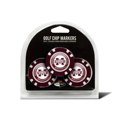 Mississippi State Bulldogs 3 Pack Golf Chip Ball Markers