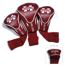 Mississippi State Bulldogs 3 Pack Contour Head Covers