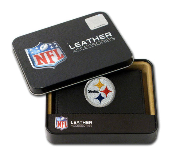 Pittsburgh Steelers Embroidered Leather Tri-Fold Wallet (CDG)