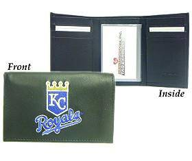 Kansas City Royals Embroidered Leather Tri-Fold Wallet (CDG)