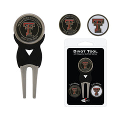 Texas Tech Red Raiders Divot Tool Pack With 3 Golf Ball Markers