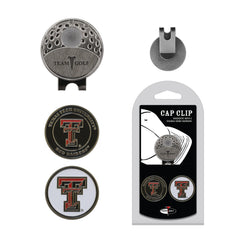 Texas Tech Red Raiders Cap Clip With 2 Golf Ball Markers