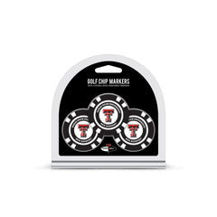 Texas Tech Red Raiders 3 Pack Golf Chip Ball Markers
