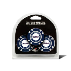 UCONN Huskies 3 Pack Golf Chip Ball Markers