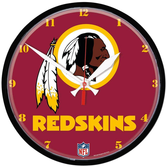 NFL Washington Redskins 12.75 Inch Round Wall Clock - 757 Sports Collectibles