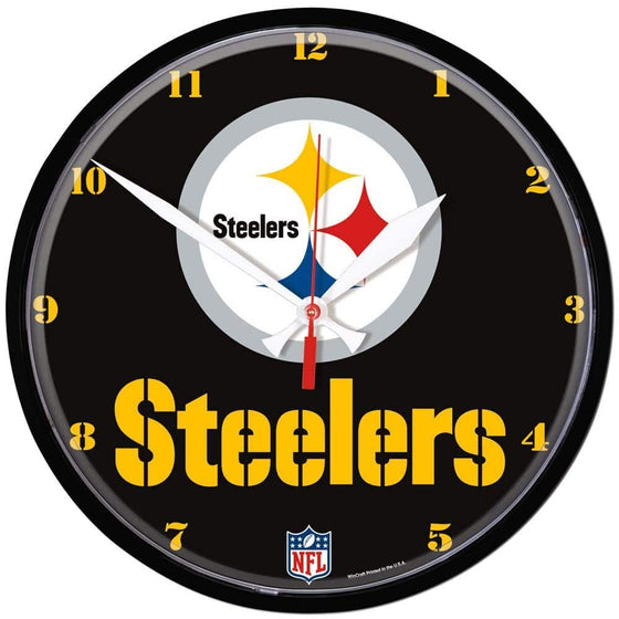NFL Pittsburgh Steelers 12.75 Inch Round Wall Clock