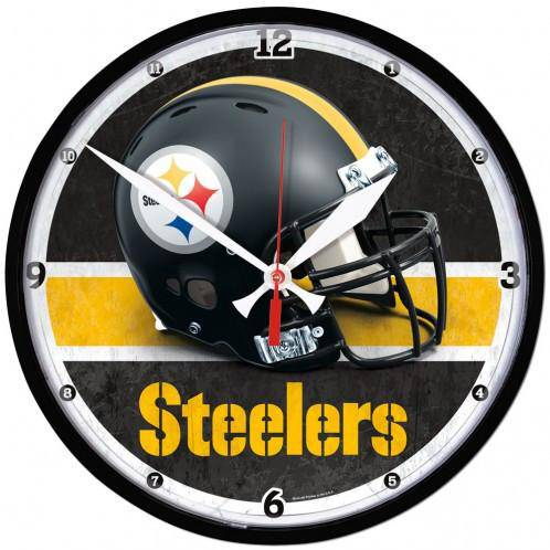 NFL Pittsburgh Steelers Helmet 12.75 Inch Round Wall Clock