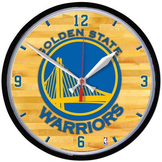 NBA Golden State Warriors 12.75 Inch Round Wall Clock