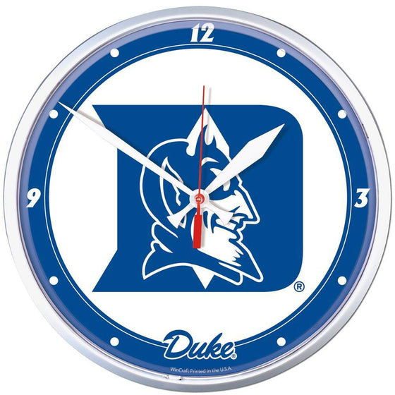 NCAA Duke Blue Devils 12.75 Inch Round Wall Clock