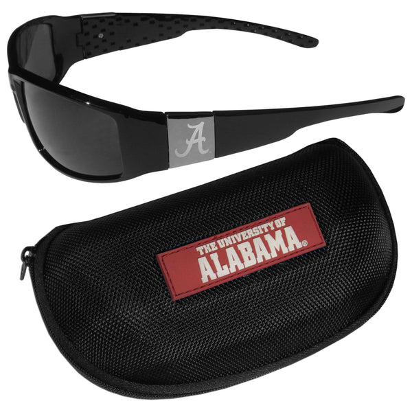 Alabama Crimson Tide Chrome Wrap Sunglasses and Zippered Carrying Case (SSKG)