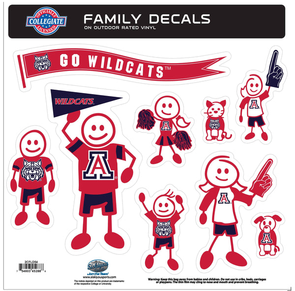 Arizona Wildcats Family Decal Set Large (SSKG)