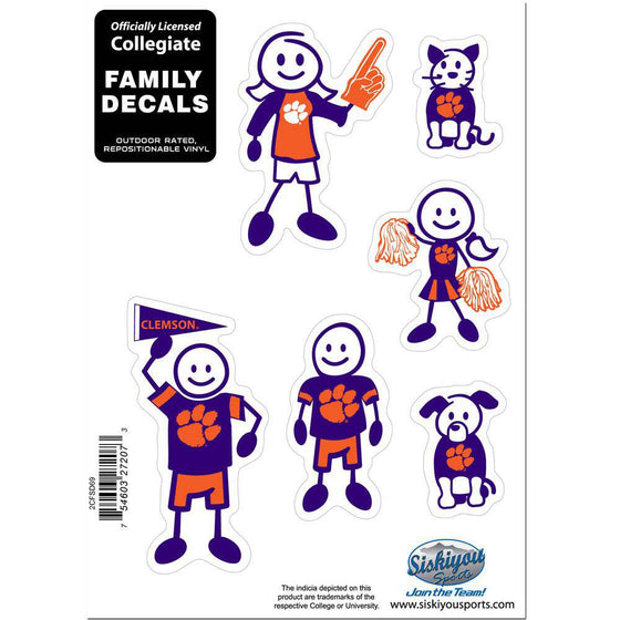 Clemson Tigers Family Decal Set Small (SSKG) - 757 Sports Collectibles