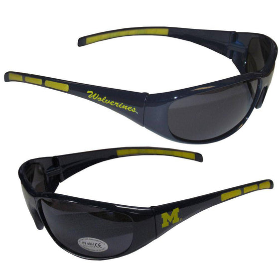 Michigan Wolverines Wrap Sunglasses (SSKG) - 757 Sports Collectibles