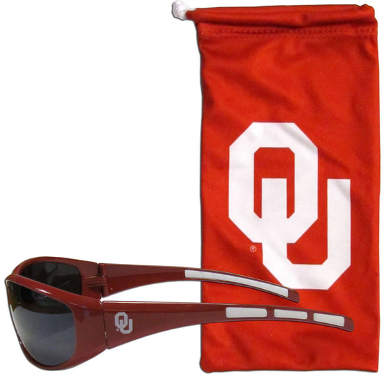 Oklahoma Sooners Sunglass and Bag Set (SSKG) - 757 Sports Collectibles