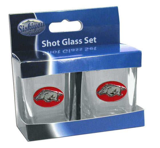 Arkansas Razorbacks Shot Glass Set (SSKG) - 757 Sports Collectibles