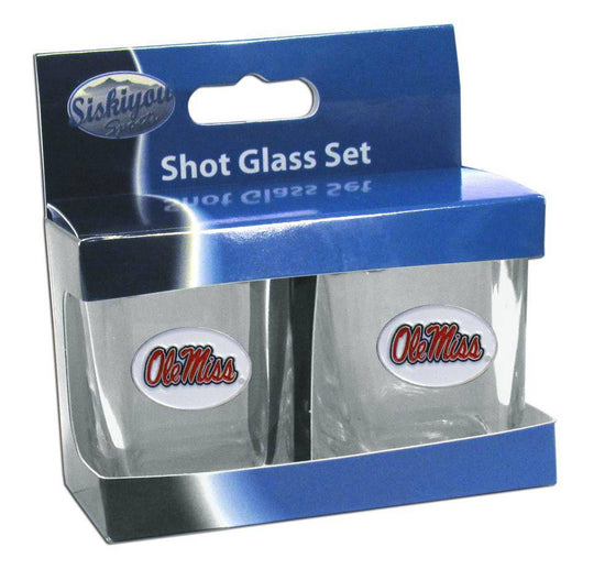 Mississippi Rebels Shot Glass Set (SSKG) - 757 Sports Collectibles