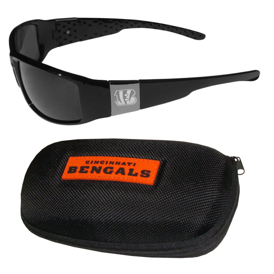 Cincinnati Bengals Chrome Wrap Sunglasses and Zippered Carrying Case (SSKG) - 757 Sports Collectibles