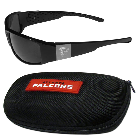 Atlanta Falcons Chrome Wrap Sunglasses and Zippered Carrying Case (SSKG)