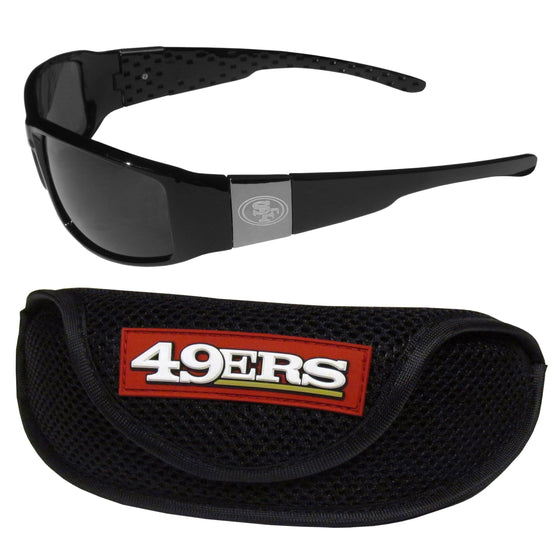 San Francisco 49ers Chrome Wrap Sunglasses and Sports Case (SSKG) - 757 Sports Collectibles