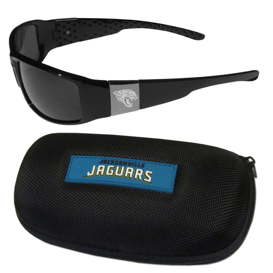 Jacksonville Jaguars Chrome Wrap Sunglasses and Zippered Carrying Case (SSKG)