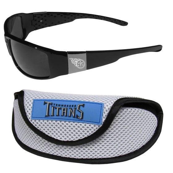 Tennessee Titans Chrome Wrap Sunglasses and Sports Case (SSKG) - 757 Sports Collectibles