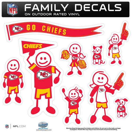 Kansas City Chiefs Family Decal Set Large (SSKG) - 757 Sports Collectibles