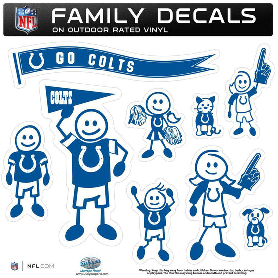 Indianapolis Colts Family Decal Set Large (SSKG) - 757 Sports Collectibles