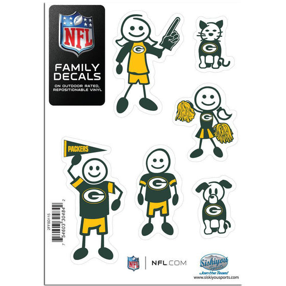 Green Bay Packers Family Decal Set Small (SSKG)