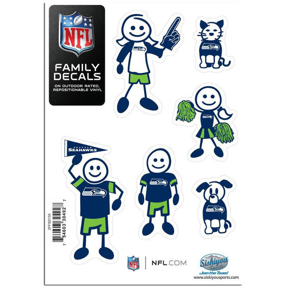 Seattle Seahawks Family Decal Set Small (SSKG) - 757 Sports Collectibles