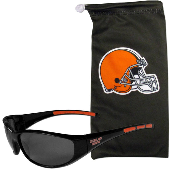 Cleveland Browns Sunglass and Bag Set (SSKG)