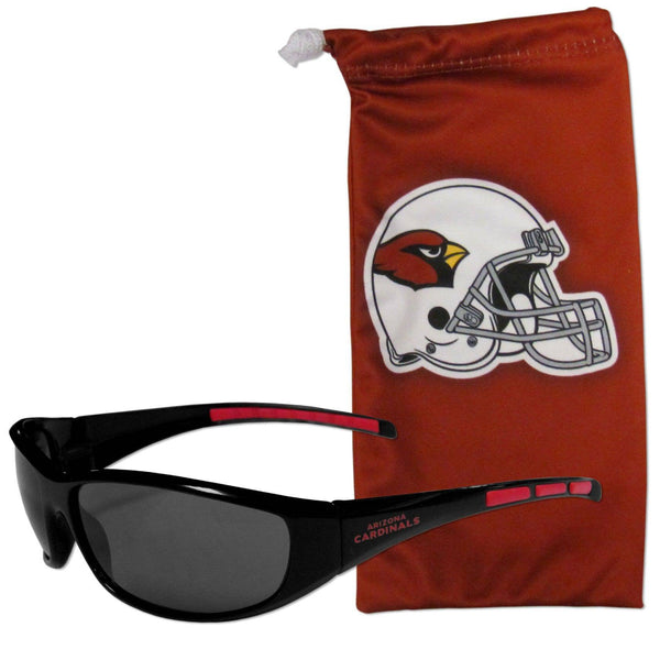 Arizona Cardinals Sunglass and Bag Set (SSKG)